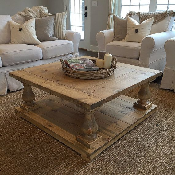 Rustic Farmhouse Cottage Baluster Coffee Table