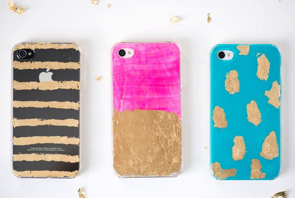 The best diy projects of the week leaves permanent for Spray paint iphone case