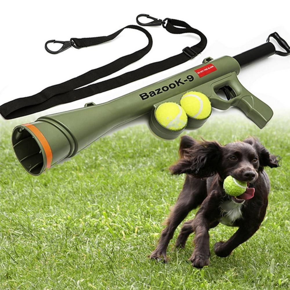 Pet Ball Launcher Toy Outdoor Training Dog Toys Interactive Dogs