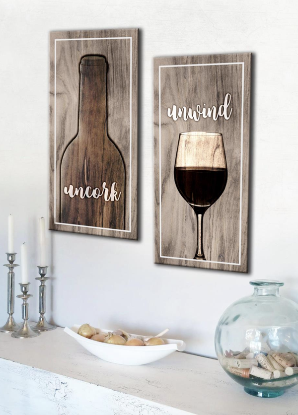 Kitchen Wall Art Eat Drink Be Merry Wood Frame Ready To Hang Kitchen Decor Wall Art Wine Wall Decor Wine Decor Kitchen