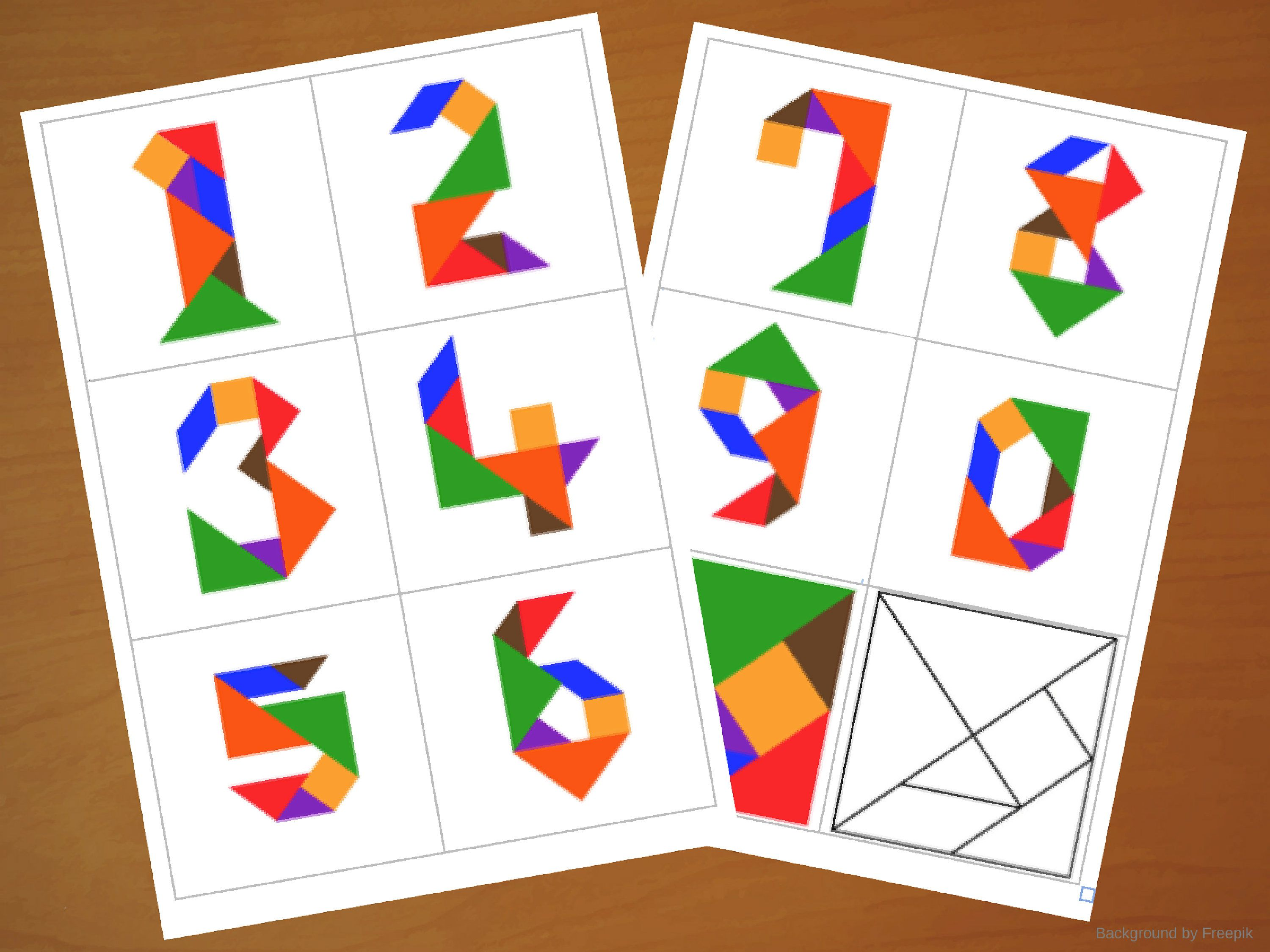 hight resolution of Downloadable Tangram Cards - Tangram Numbers - Tangram Puzzles - Shape  Activities - Puzzle for Kids - Downloadable Game - Print…   Shapes  activities