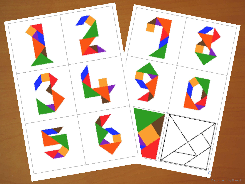 Downloadable Tangram Cards - Tangram Numbers - Tangram Puzzles - Shape  Activities - Puzzle for Kids - Downloadable Game - Print…   Shapes  activities [ 2250 x 3000 Pixel ]