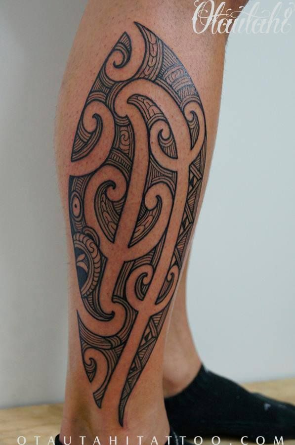 12656cb39 side-of-calf-maori-ta-moko-tamoko-kirituhi-new-zealand-newzealand-nz-tattoo- design