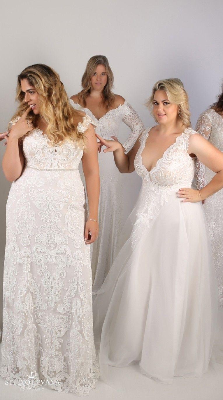 Plus size wedding gowns by studio levana wedding dresses plus size