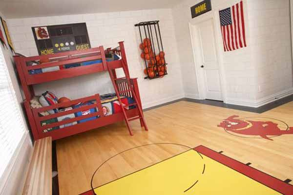 Basketball bedroom decorating ideas new basketball theme for Basketball bedroom ideas