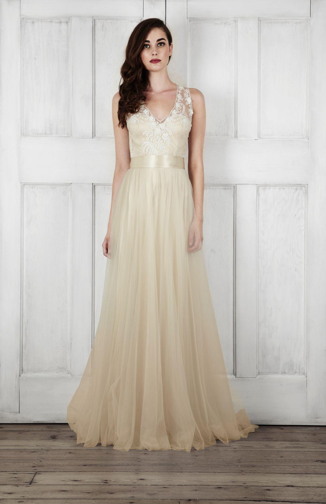 colourful | Catherine deane wedding dress, Champagne wedding ...