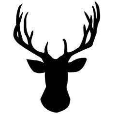 DIY Gold Foil Deer Head Silhouette   Deer head stencil, Stenciling ...