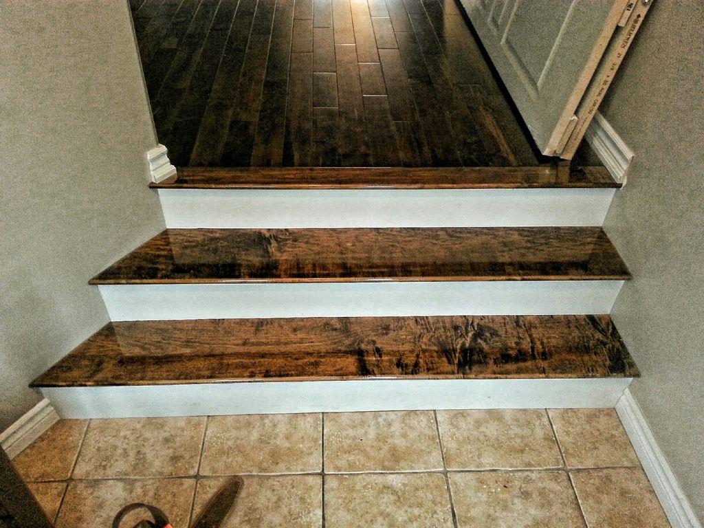 Best Hard Maple Stairs Stained Dark Walnut Www Azteccarpentry 400 x 300