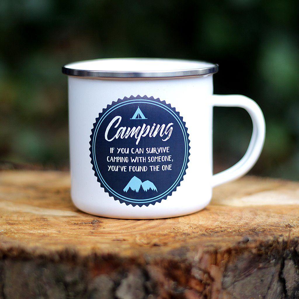 If You Can Survive Camping Enamel Mug Mugs, Camping