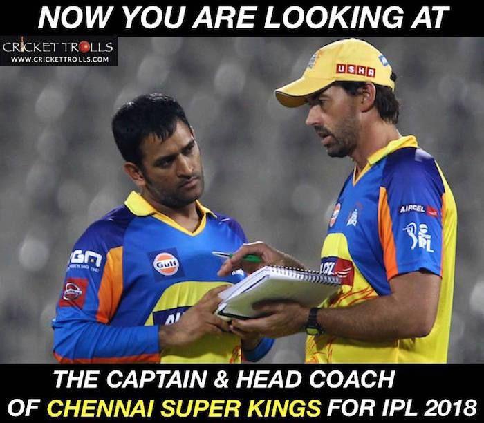 MS Dhoni & Stephen Fleming #IPL2018 #T20 - facebook com