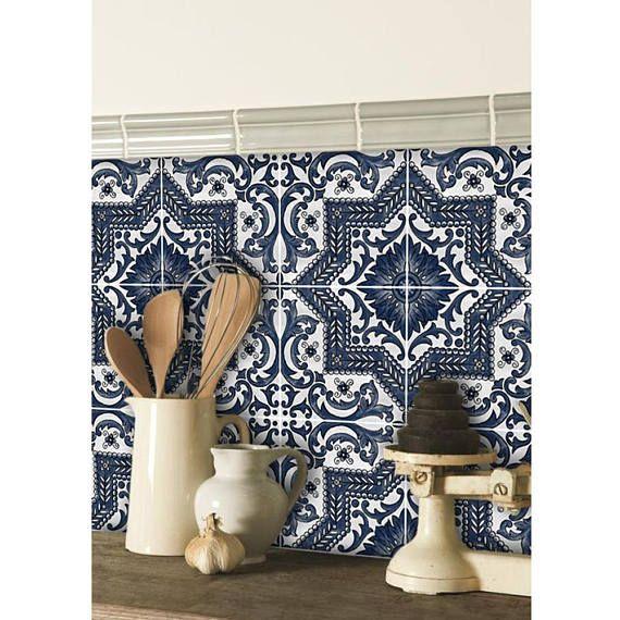 kitchen and bathroom vinyl tile sticker splash back brico deco pinterest salle de bain. Black Bedroom Furniture Sets. Home Design Ideas