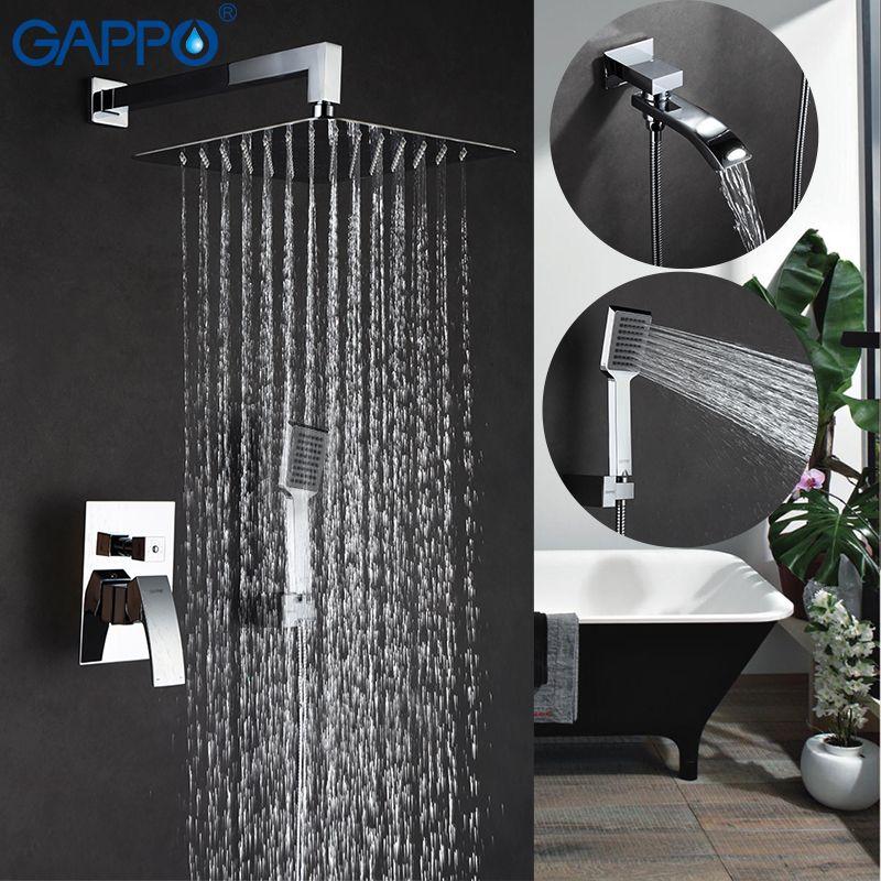 Pas cher GAPPO Mur salle de bains douche set robinet bronze