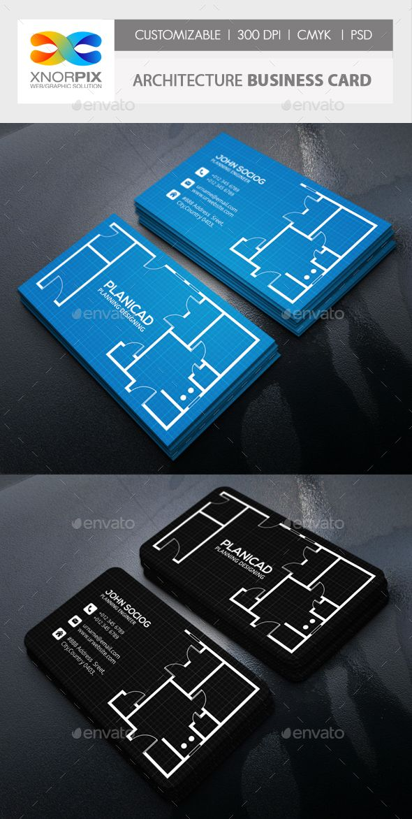 Architecture Business Card | Business card psd, Psd templates and ...