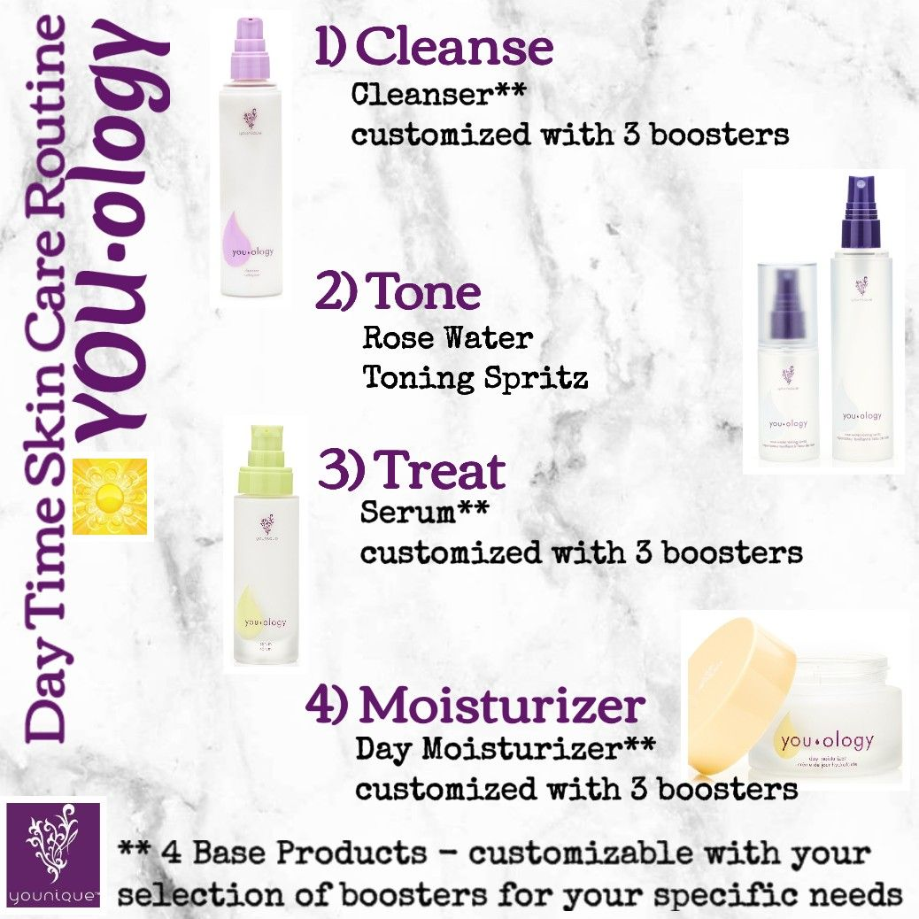Healthy Skin Care: #YOUOLOGY #younique Day Time Skin Care Routine For The