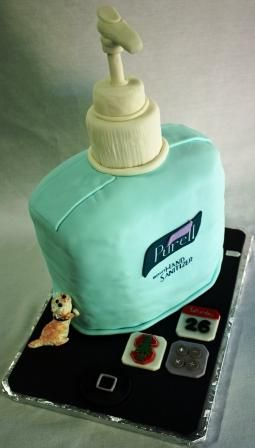 Purell Hand Sanitizer Cake With Iphone And Cavapoo Definitely