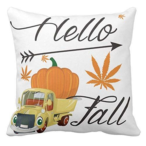 Kissenday 18X18 Inch Hello Fall Rustic Autumn Quote Festival Saying Cotton Polyester Decorative Home Decor Sofa Couch Desk Chair Bedroom Car Birthday Housewarming Gift Square Soft Throw Pillow Case Touching Waist Body Font Wedding Birthday Graduation Teacher Grandparent Mother's day,Father's day,Thanksgiving Day,Women Halloween Valentines Sweet Whimsical Colorful Friend Hand Craft Typography Grandfather Granddaughter Warm Addition Decoration Machine washable living bedroom office dining room