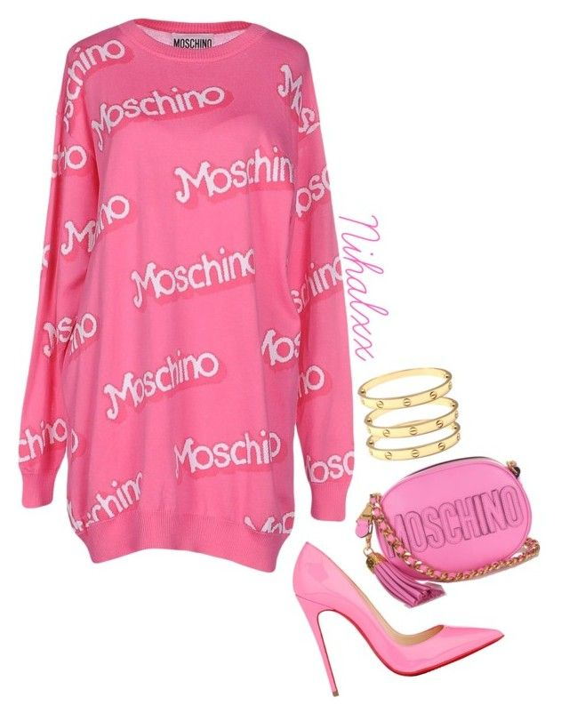 """I just feel pink"" by fashionismystory on Polyvore featuring Moschino and Christian Louboutin"