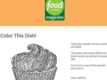 Food network mag sweepstakes and giveaways