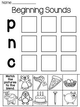 Beginning Sounds Worksheets (Alphabet Letter Sounds Pictures Sort)