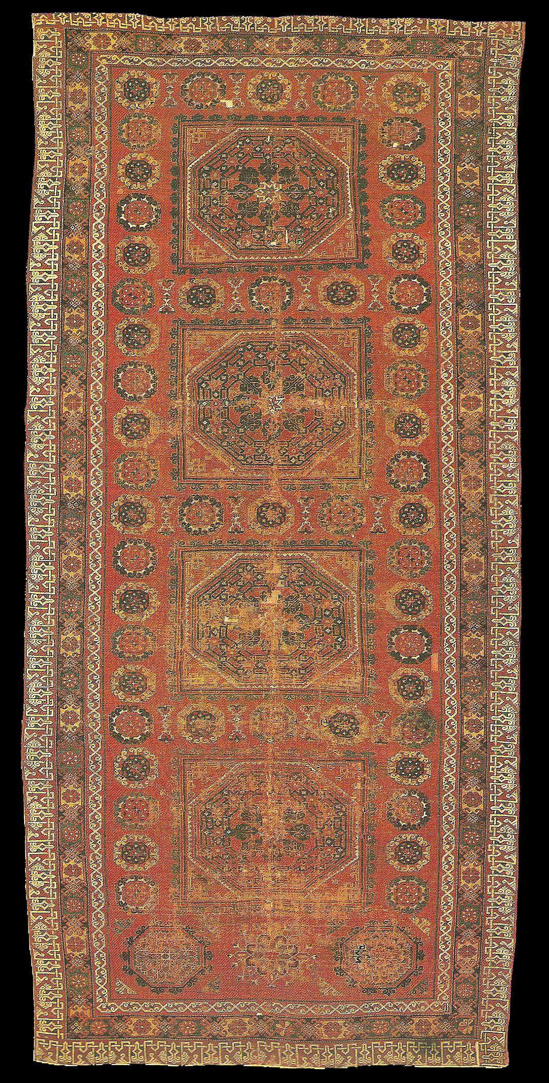 16th Century Turkish Carpet Museum Fur Islamische Kunst Berlin No I 5526 Size 200x430cm