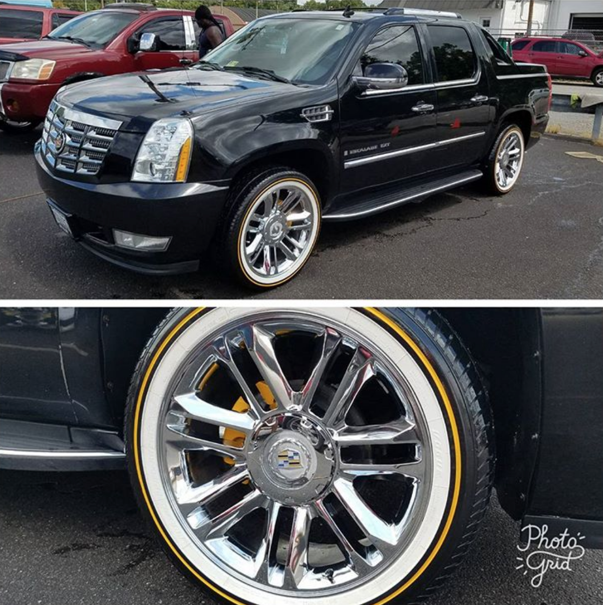 22 Inch Vogue Tyres On This Clean Escalade Ext Nice Tyres