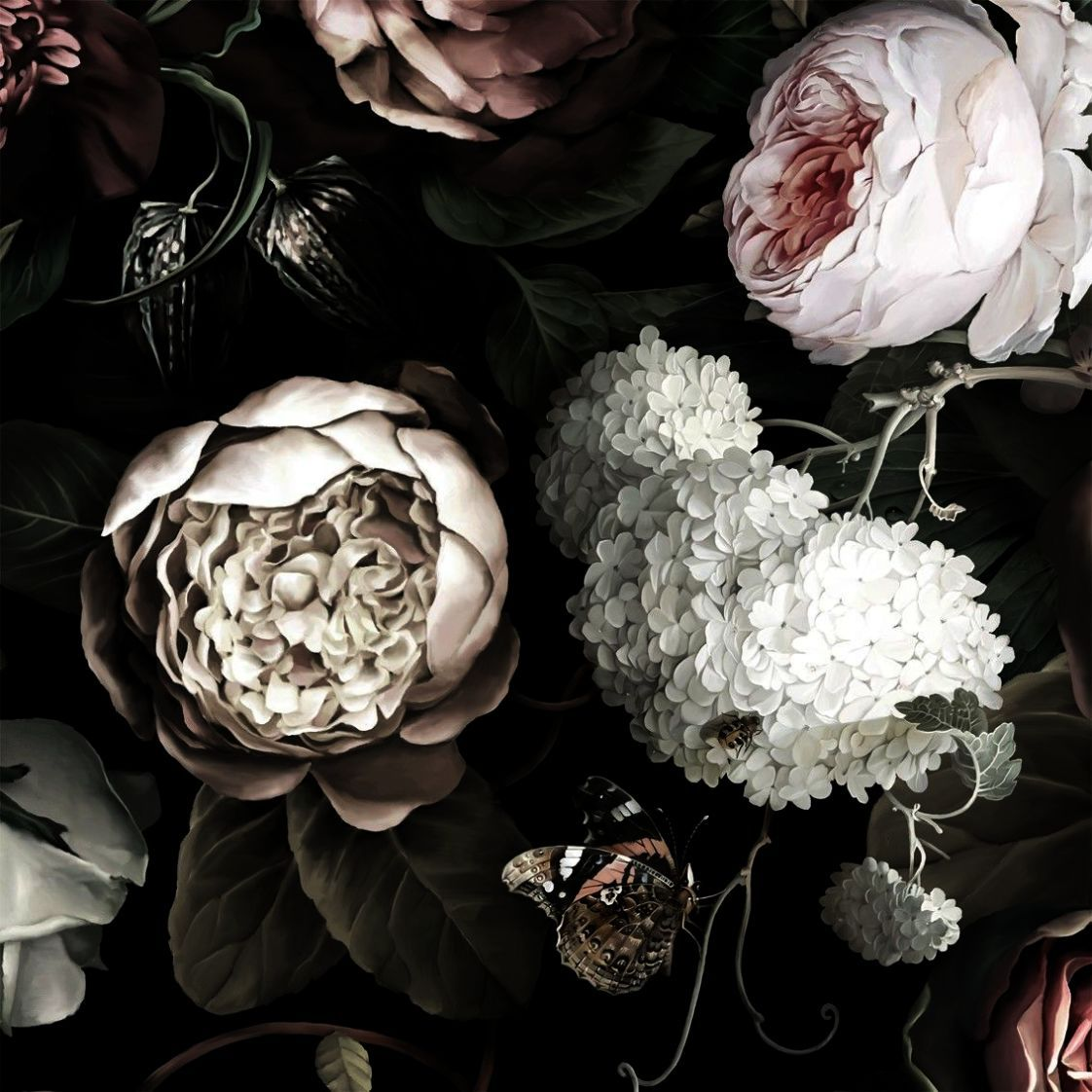 Beautiful Flower Wallpaper High Resolution Vintage Floral Print