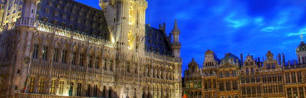 The beautifulest Grand Place of the world:  VISIT BRUSSELS  Incomparable beauty of the magnificent gothic Brussels Town Hall