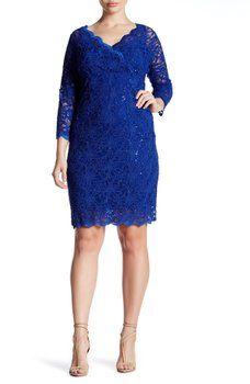 Marina - Sequin Lace Dress (Plus Size)