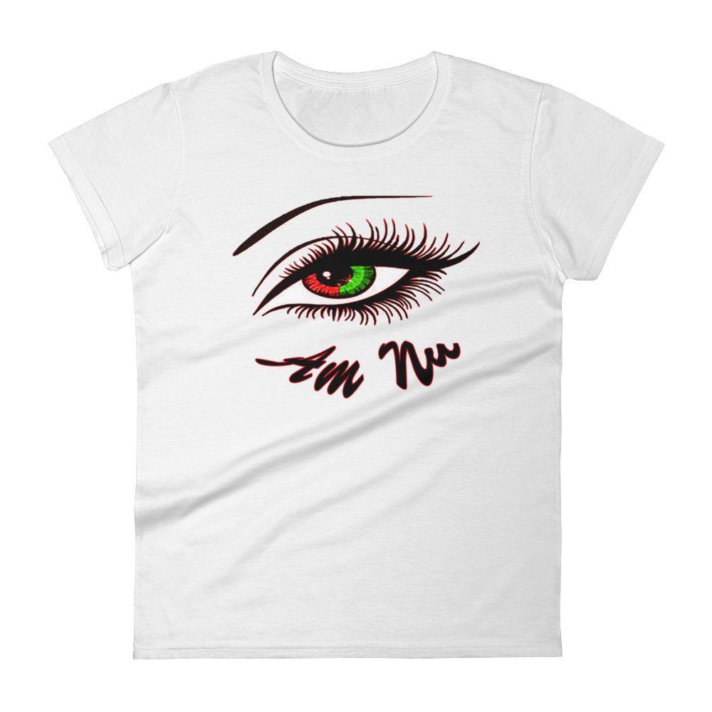 """""""Eye Am Nu"""" (TM) Women's short sleeve t-shirt"""