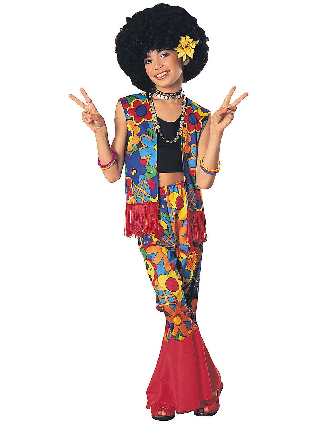 Mens Black 70/'s 70s Retro Fringed Wig Disco Hippie Hippy Party 60s 1970s Costume