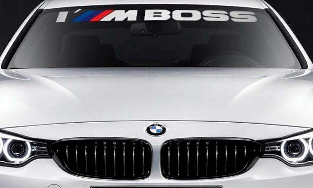 Bmw Windshield I M Boss M Performance Windows Sticker Decal Graphic Avtomobilnye Aksessuary