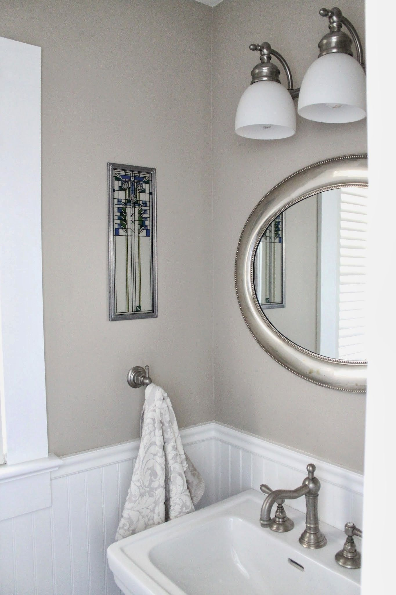 Perfectly petite powder room & New Year's resolution fail