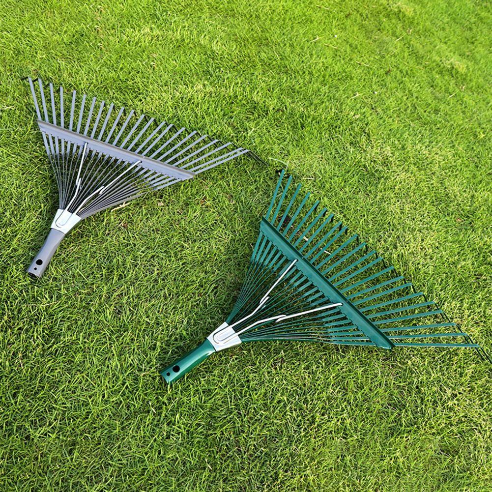 GREEN BLADE 15 TOOTH TINE ADJUSTABLE GARDEN LAWN GRASS LEAF RAKE