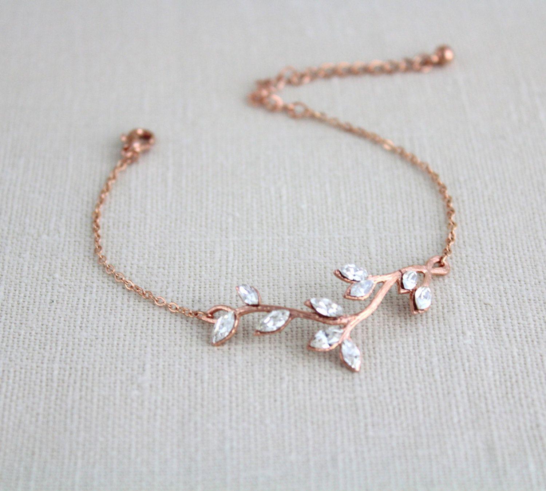 The Wedding Stone For Cape Town Brides Elegant Yet: Rose Gold Bracelet Bridal Bracelet Wedding Jewelry