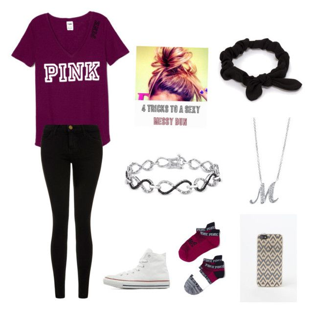 """""""Untitled #81"""" by marissa-moore-i on Polyvore featuring Ice, Current/Elliott, Converse, NLY Accessories, BERRICLE and LA: Hearts"""
