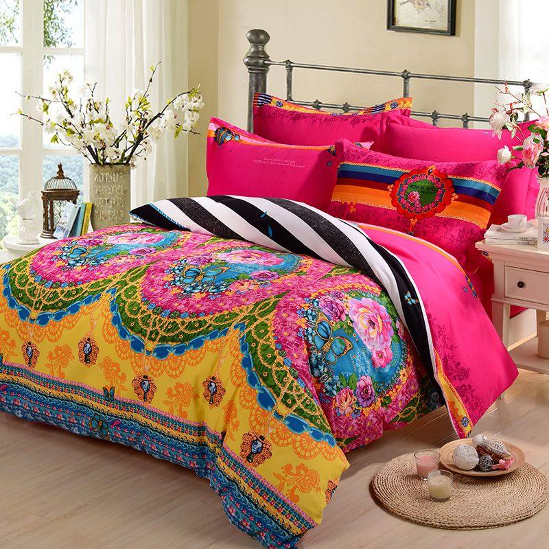 Colorful Comforter Sets Queen Brick wall bedroom, Modern