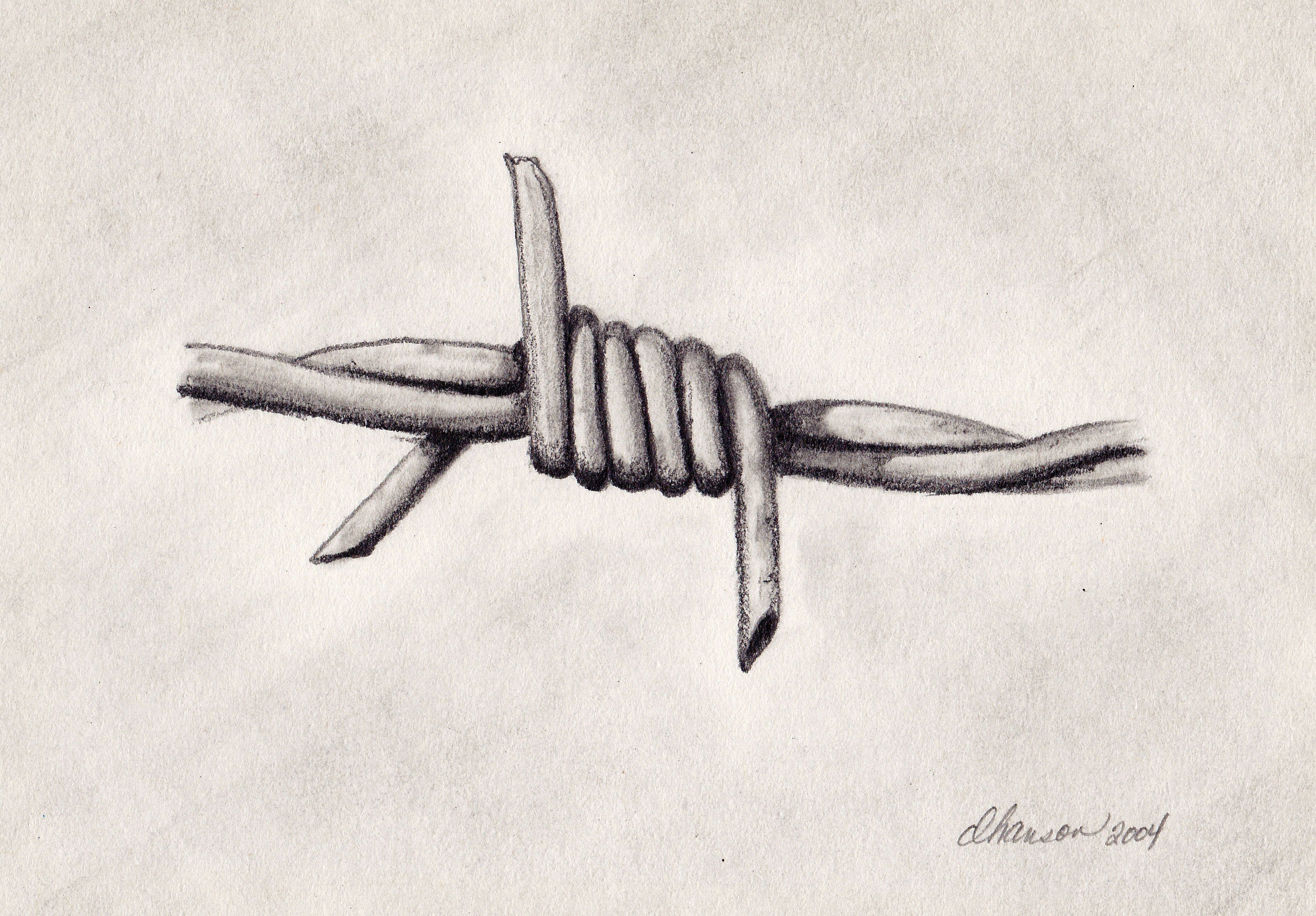 Barbed Wire | Fourth Wall Arts | wood burning ideas | Pinterest ...