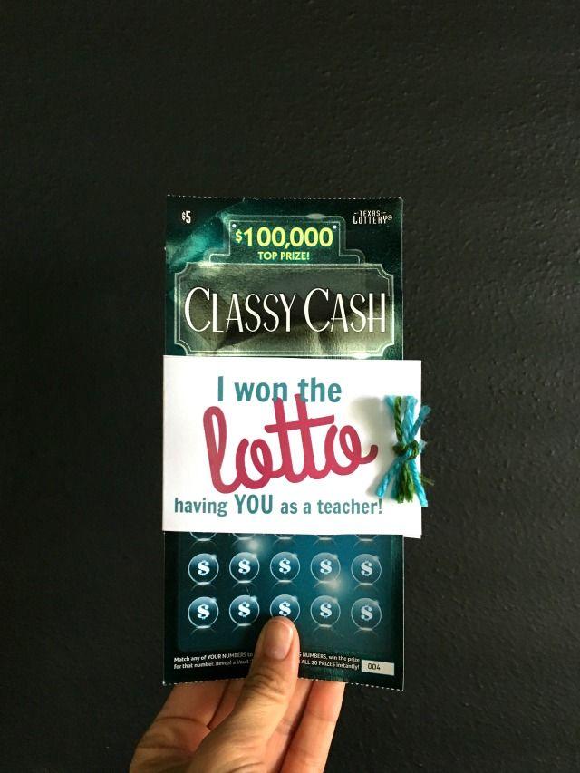 teacher appreciation day ideas with lottery tickets teacher rh pinterest com