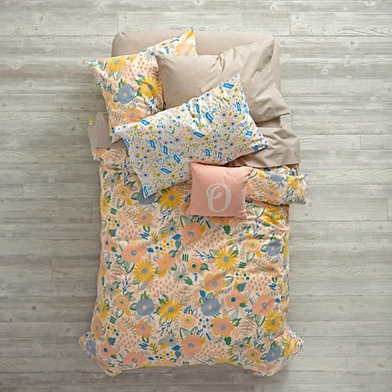 Floral Rush Bedding and Duvet Cover | Floral bedding, Girl beds