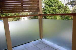 Frosted Film On Balcony Glass 5 Glass railing deck