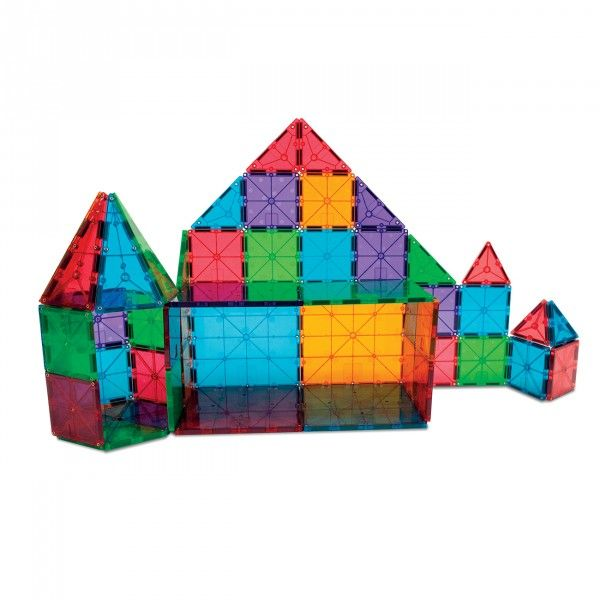 Magna Tiles Clear Colors 100 Piece Magnetic Blocks Set Magna Tiles Magna Tiles Tiles Magnetic Tiles