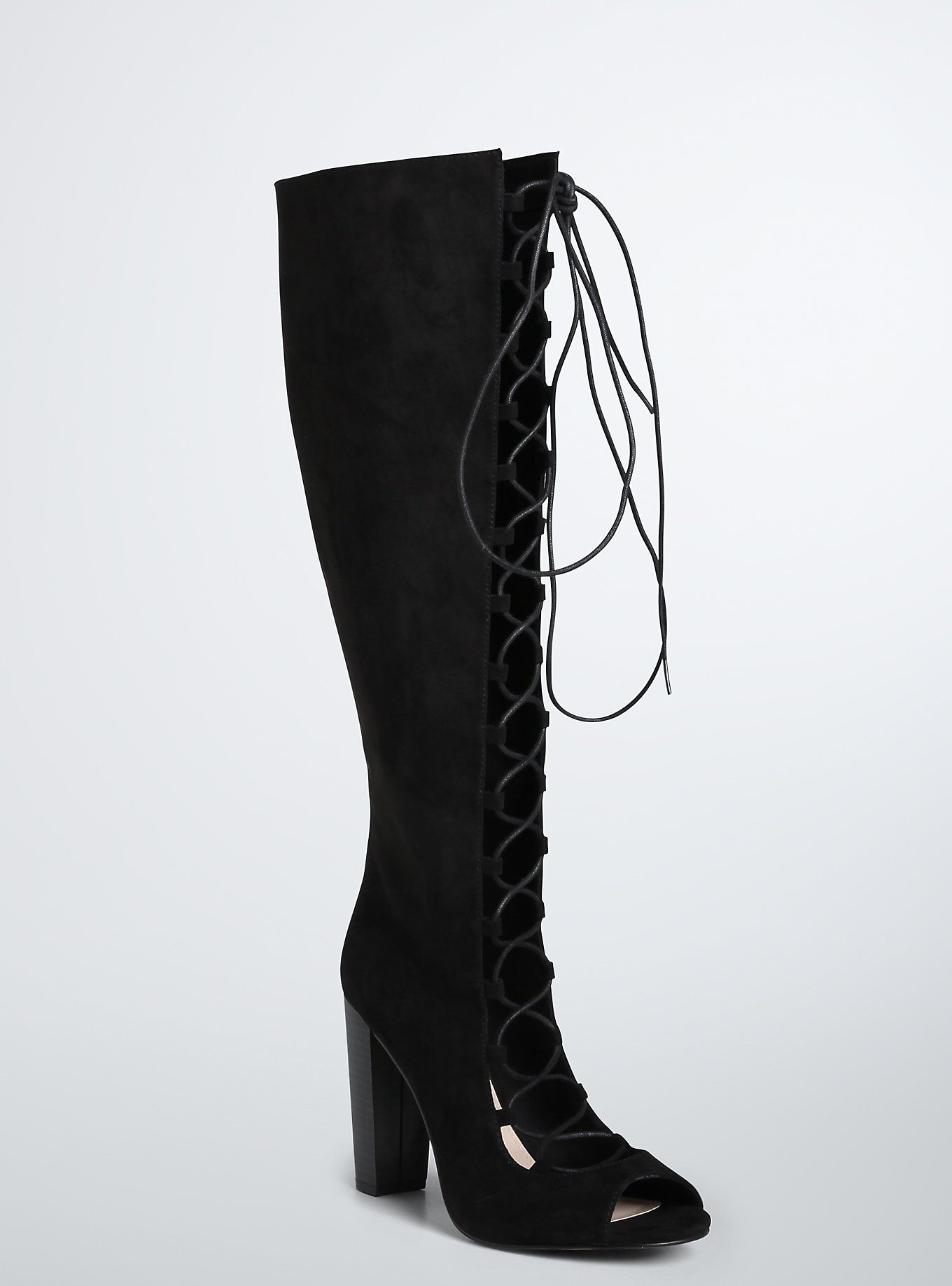 649de0e6983 Lace Up Cutout Tall Boots (Wide Width)