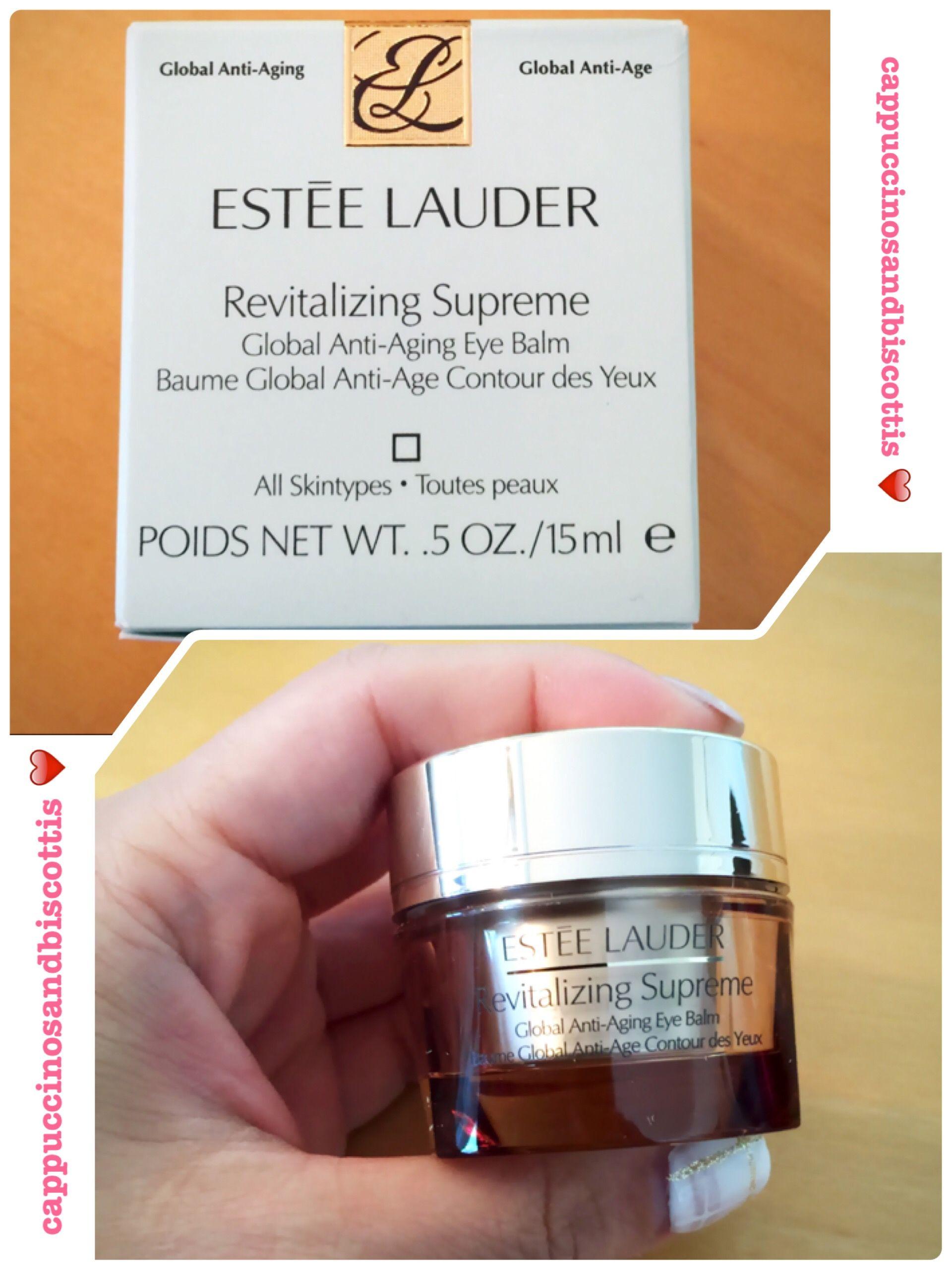 e59e6868a9018 Estée Lauder Revitalizing Supreme Global Anti-Aging Eye Balm Review  www.cappuccinosandbiscottis.com