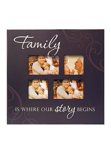 New View Family Is Where Our Story Begins Collage Frame Wall Decor