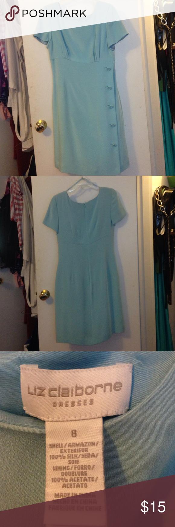 Liz Claiborne pale blue dress New dress never been worn.  No tags. Dresses Midi