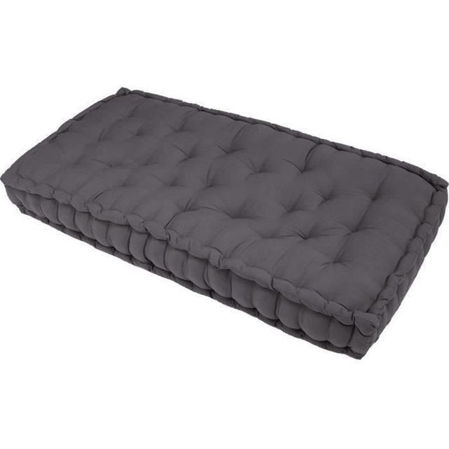 matelas de sol banquette gris 100 coton 60x120x15cm finlandek j ms salons and decoration
