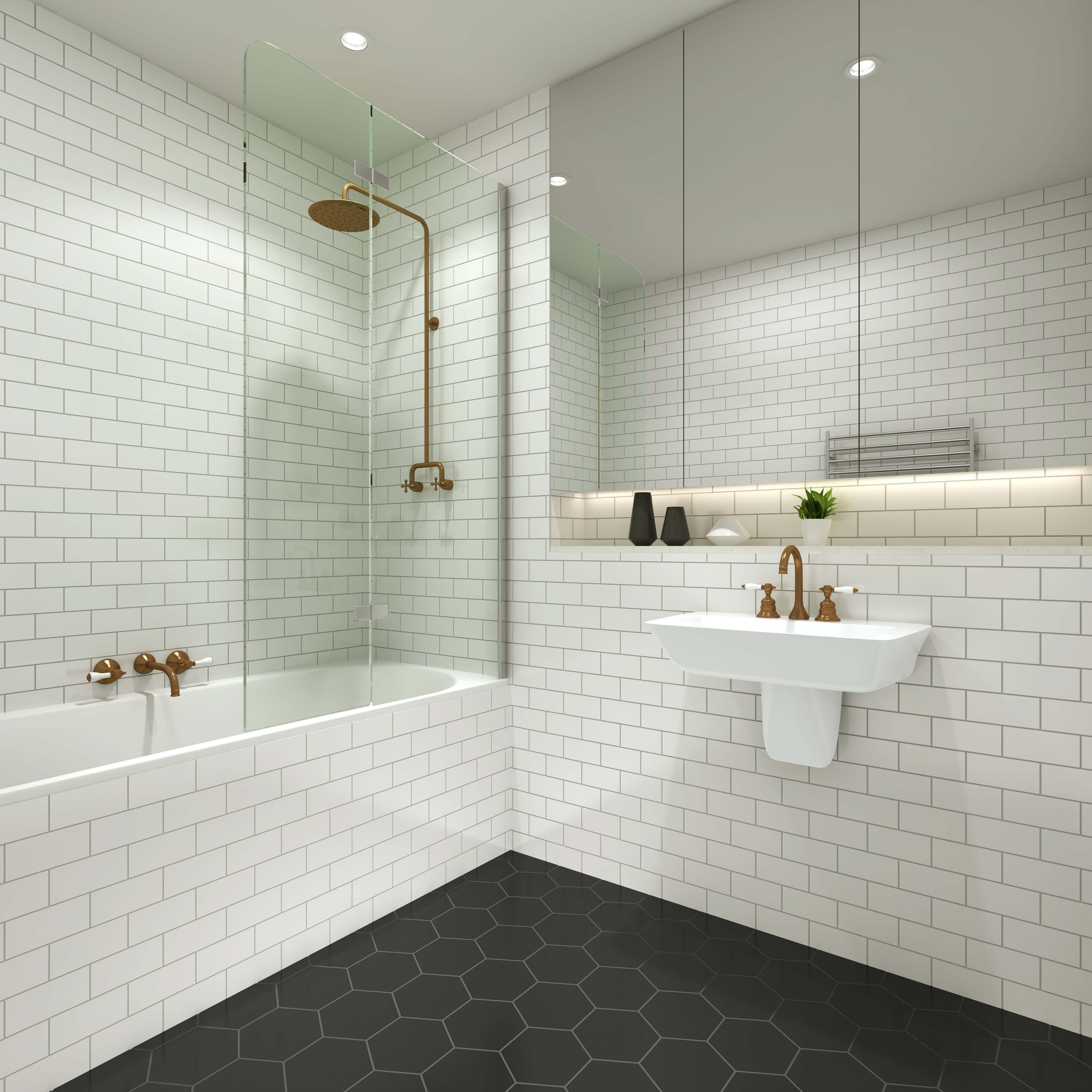 Subway Wall Tile Bathroom
