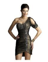 Clarisse Grecian Gold Cocktail Dress 2045