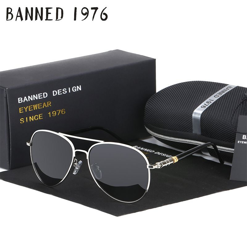 e0ed83374d BANNED 1975 Day and Night version Designer Cool Polarized drive Sunglasses  UV women Glasses Oculos Men eyewear hot sell with box