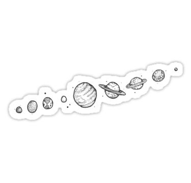 Planets Sticker By Rumerpriestly Black Stickers Black And White Stickers Cute Stickers